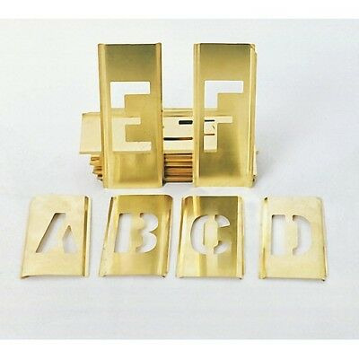 """1/2"""" New 45pc Brass Letter Number Stencils Military"""