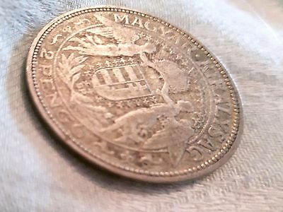 HUNGARY Coin Silver 2 Pengo 1929 (10g/27mm)