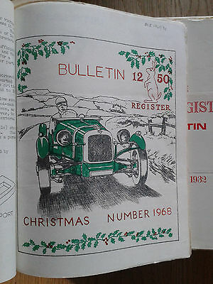 The Alvis 12/50 Register Bulletin October 1950 to June 1975 + a few later ones