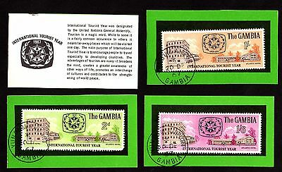 STAMPS ~ THE GAMBIA International TOURIST Year HIGH VALUES ~ 1967