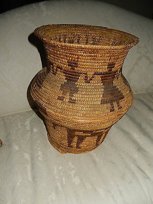 American INDIAN BASKET ANTIQUE with condition issues but  still great native art