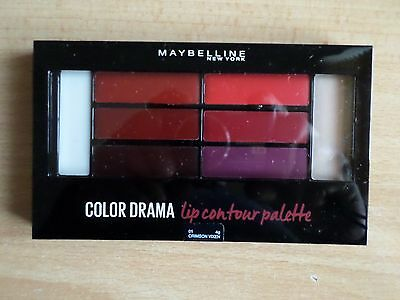 Maybelline Color Drama Lip Contour Palette 01 CRIMSON VIXEN
