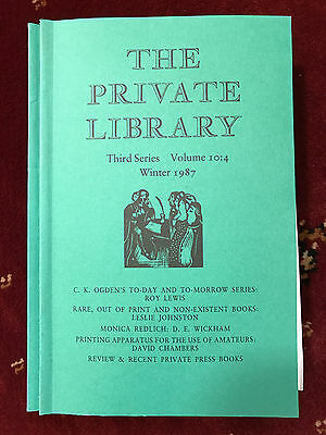 The Private Library 3rd Series Vol.10:4 1987
