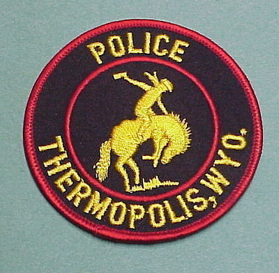 Thermopolis  Wyoming  Wy  Cowboy / Bucking Bronco  Police Patch   Very Nice!!