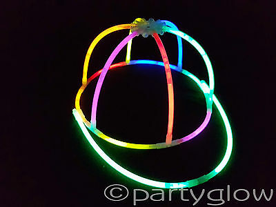 Glow Stick Hat Glow In The Dark Cap Glow Sticks Parties Festivals Concerts