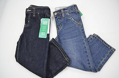 Toddler Boys Lee Dungarees Relaxed Fit Jeans Adjustable Waistband Size 2T,3T