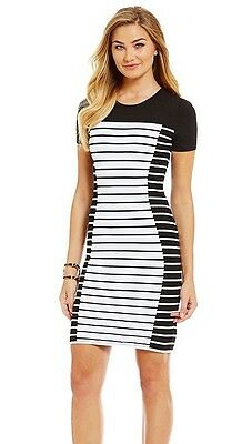 df0754ec725 NWT MSRP  175 - MICHAEL KORS Striped Knit Bodycon Sheath Dress