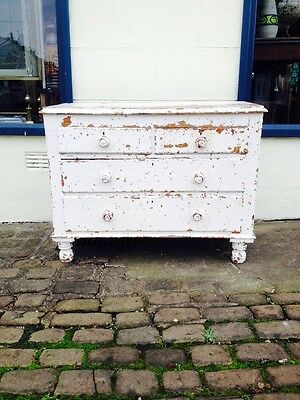 Pine Chest Of Draws / Painted / Vintage Pine / Antique