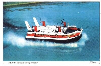 S.R.N.H. HOVERCRAFT HOVERLLOYD Ramsgate Thanet Kent OLD POSTCARD