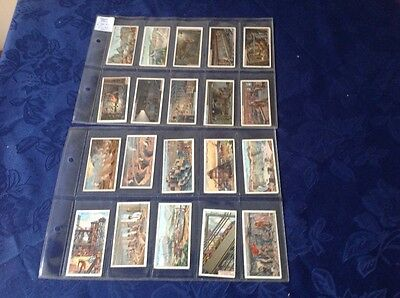 cigarette cards.Wills. Mining.Full set of 50 cards.Good condition.