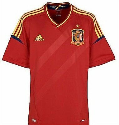 adidas Spain Home Jersey (2012/13) Sizes M-XL Red RRP £65 BNWT