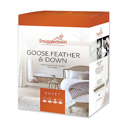 13.5 tog Double Size Goose Feather & Down Duvet by Snuggledown Made in UK