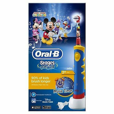 Oral B Stages Power Kids Electric Rechargeable Toothbrush Featuring Disney Micke