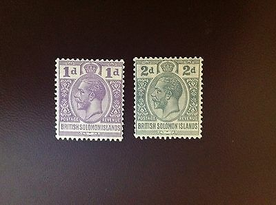 British Solomon Islands 1922-31 SG41 & SG43 MH