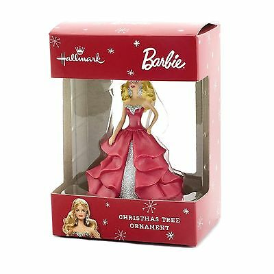 Hallmark Barbie Red Dress Christmas Tree Ornament - New in Box!