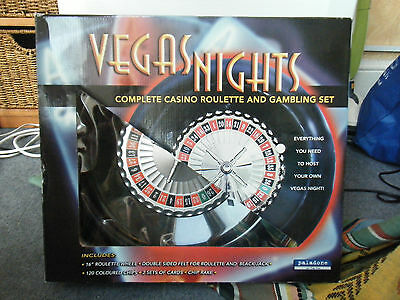 Vegas nights complete roulette and gambling set boxed