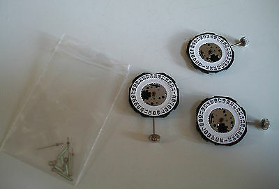 Pack Of 3 Pc 32A Quartz Watch Movements For Date With Stem And Hands