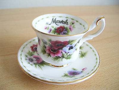 Royal Albert Flower of the Month Miniature Cup & Saucer – March