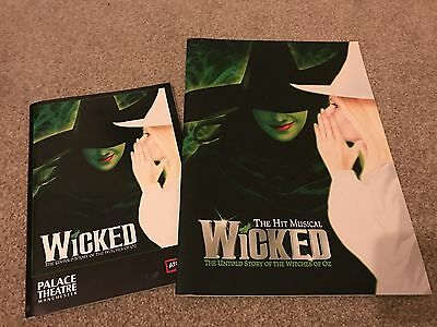 Wicked London and Manchester theatre programmes