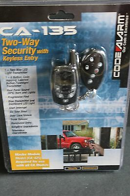 NEW Code Alarm 2-Way LED Security System With Keyless Entry (CA-135)
