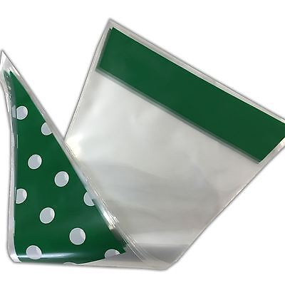 Green Polka Dot Funky Sweet Cone Bags - Party Favour Cellophane Bag