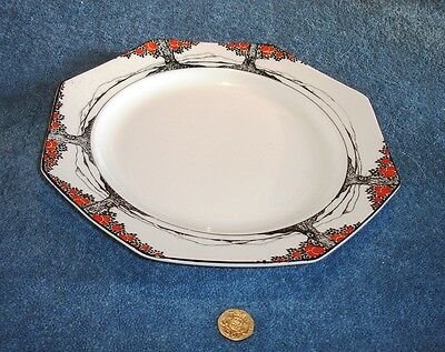 Crown Ducal Orange Tree Art Deco Extremely Rare 9 inch Octagonal Dinner plate
