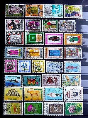 Small used stamps collection of Tunisia as scan.