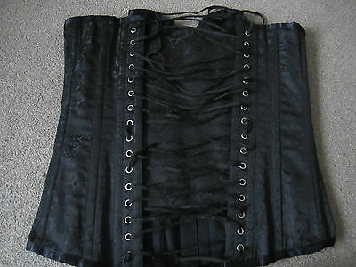 Vintage Boned Basque Corset  Fetish Erotic Erotique Punk Goth Lap/pole Dancing