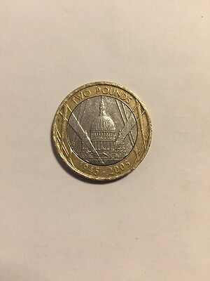 RARE St Paul's Cathedral 1945-2005 Minting Error Two Pound (£2) Coin