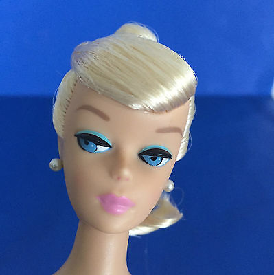 Vintage Barbie REPRODUCTION Ponytail Swirl Doll Blonde REPRO w/ Stand & COA