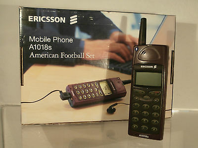 ERICSSON A1018s American Football Set Mobile Phone Handy Vintage OVP A 1018 S