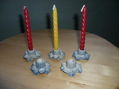 5 Wade 1970S Candle Holders Plus 3 Original Candles