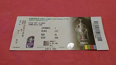 Hull v St Helens 2008 Challenge Cup Final Used Rugby League Ticket