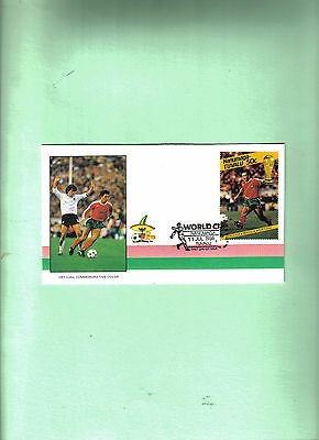 1986 world cup first day cover depicting portugal