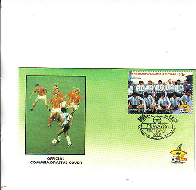 1986 mexico world cup first day cover argentina team