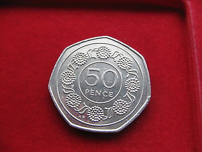*RARE* 1988 GIBRALTAR 50p CANDY TUFF Circulated nice mint condition L48