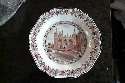Lner Peterborough  Cathedral Plate C1930S By Joshua Wedgwood  Rose  & Thistle
