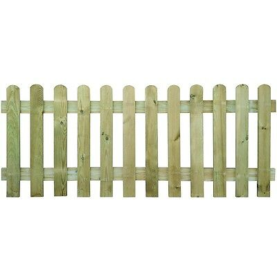 New Picket Fence 200 x 80 cm Wood Garden Wooden Fence Panels Lawn Border Fencing