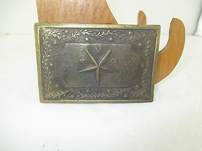 Civil War Avc Alabama Confederate Old Reproduction Brass Belt Buckle