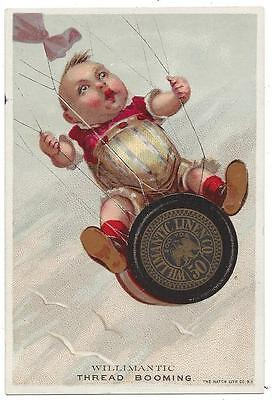Willimantic Thread & Linen Co. - Trade Card - The Hatch Lith Co., NY
