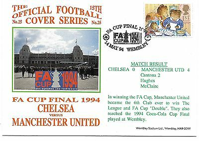 1994 FA CUP FINAL - MANCHESTER UNITED v CHELSEA POSTAL COVER / FDC