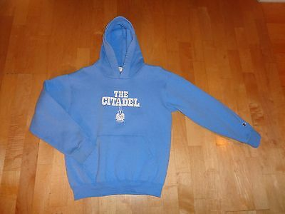 The CITADEL Blue Sweatshirt Hoodie YOUTH Size Large 10 12 CHAMPION Boy or Girl