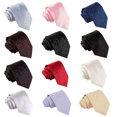 Men's Swirl Woven Microfibre Tie - Evening  Wedding Special Occasions Stye DQT