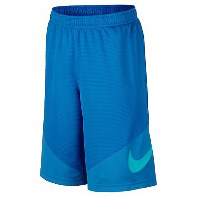 Nike Boys Dri Fit Basketball Shorts NWT  Youth Size Small  Blue w/ Large Swoosh