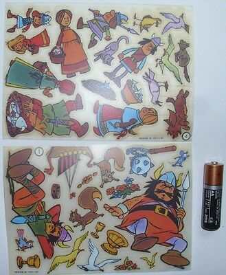 2 Rare VINTAGE Tranfer/Decal Stickers Style KALKITOS Vikings Decal Made In Italy