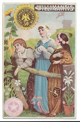 Willimantic Six Cord Thread - Trade Card - William Harm, Grocer - Columbia, PA