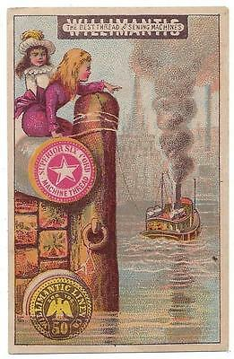 Willimantic Sewing Thread - Trade Card - Mary A. Reichard, Grocer - Columbia, PA