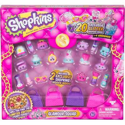 EXCLUSIVE TO CLAIRE'S Shopkins GLAMOUR SQUAD Glitter Collection!! VHTF Sold Out!