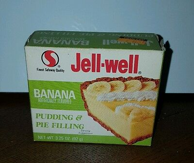 Vintage Jell-Well Pudding Unopened 1970s ERA BANANA