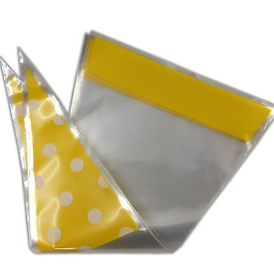 Polka Dot Funky Sweet Cone Bags - Party Favour Cellophane Bag